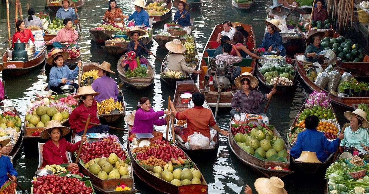 chợ nổi thái lan