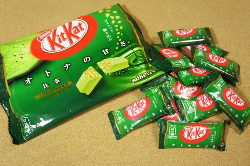 Bánh kitkat ở Nhật có khá nhiều mùi vị