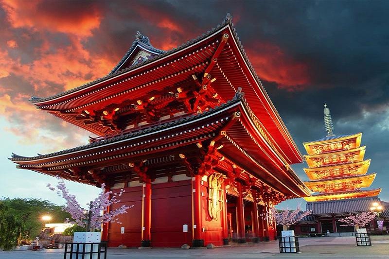 Đền Asakusa Kannon - điểm đến lý tưởng trong mùa thu cho các gia đình