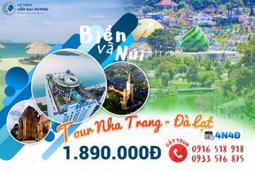 Tour Du lịch Nha Trang - Đà Lạt 4N4Đ