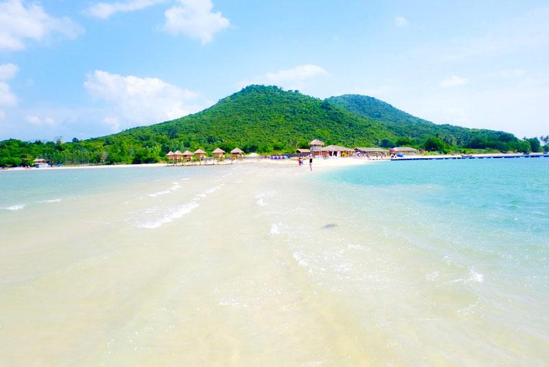 Đảo Điệp Sơn - Con đường dưới biển độc đáo