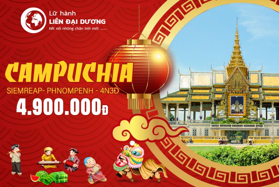 Tour du lịch Campuchia 4N3Đ Tết Kỷ hợi