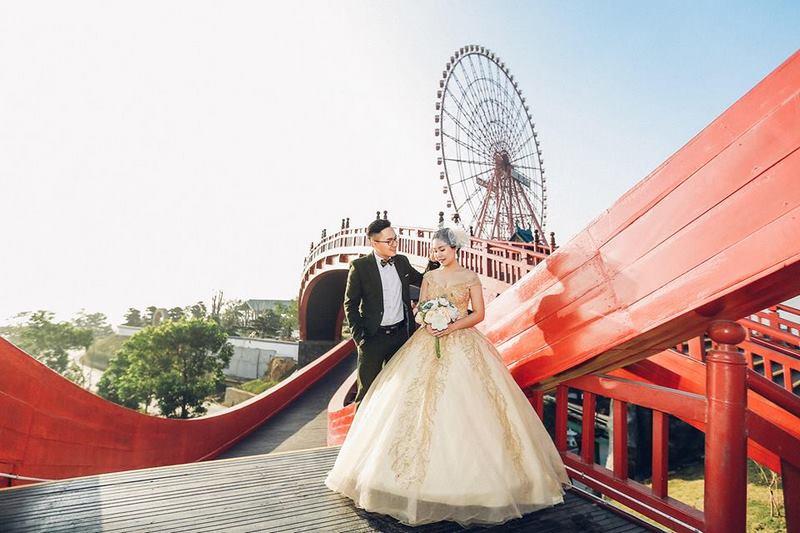 Các cặp đôi đến đây để lưu giữ cho mình những bức ảnh cưới tuyệt đẹp
