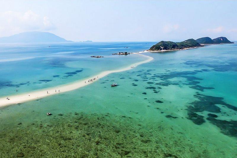 Con đường dưới biển của Đảo Điệp Sơn