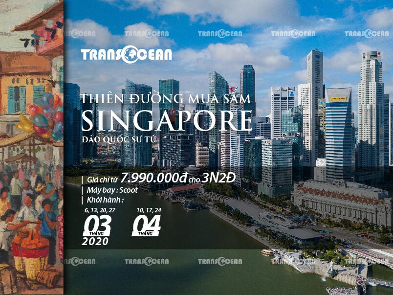 THIÊN ĐƯỜNG MUA SẮM SINGAPORE 3N2Đ