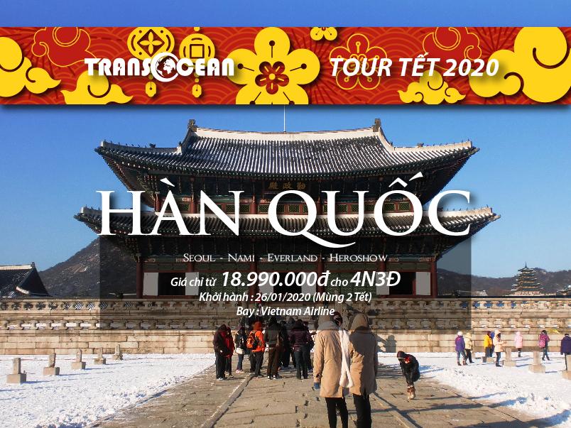 TOUR TẾT 2020   SEOUL - NAMI - EVERLAND - HERO SHOW