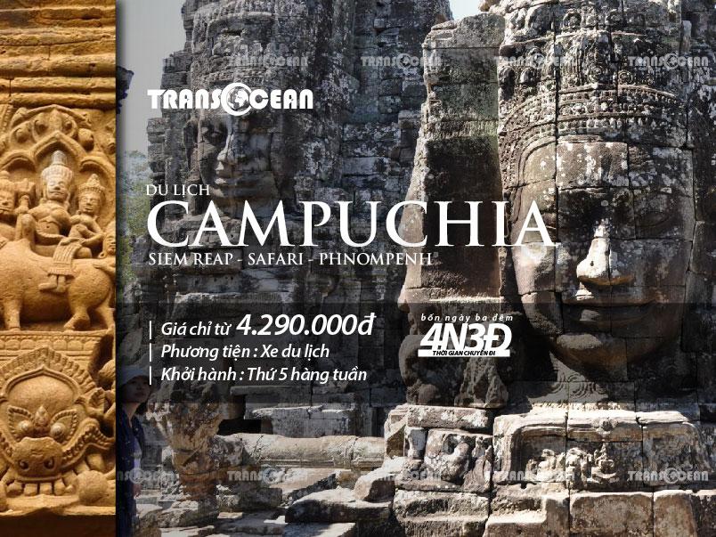 TOUR DU LỊCH CAMPUCHIA   SIEMREAP – SAFARI – PHNOMPENH