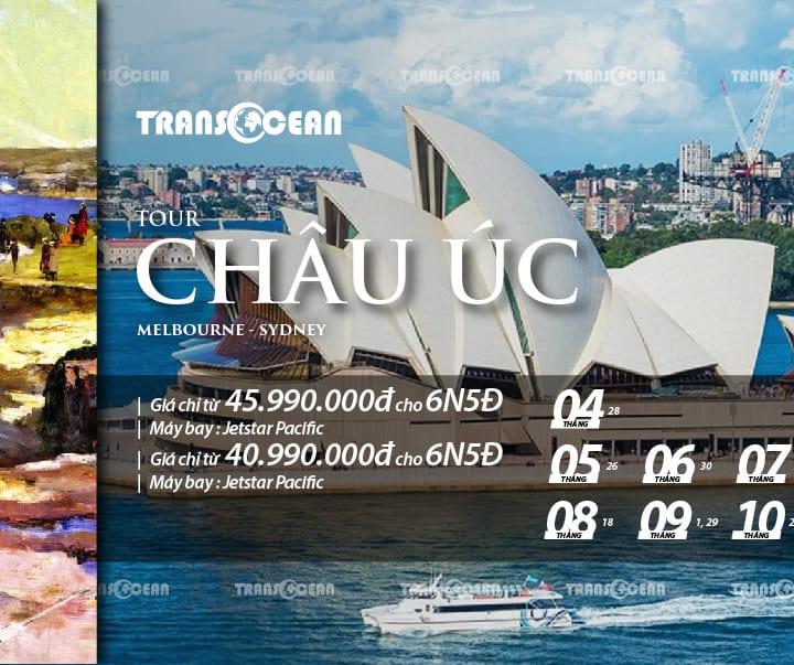 TOUR KHÁM PHÁ CHÂU ÚC   MELBOURNE – SYDNEY 6N5Đ